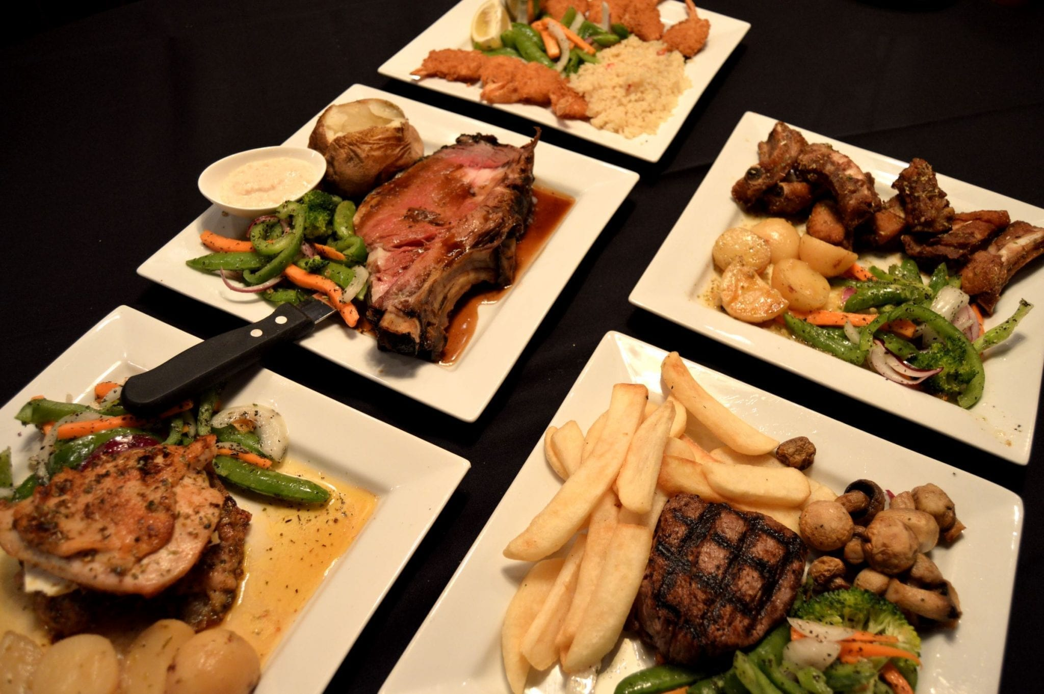 Various dishes available from Lakeshore Restaurant